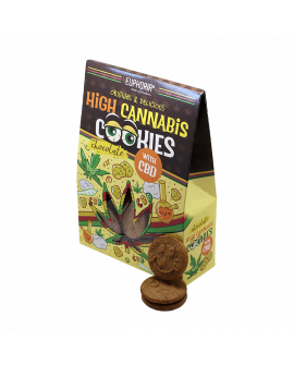 Euphoria High Cannabis Cookies Chocolate (Σακουλάκι 100 gr)