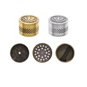 Atomic Metal Grinder 3 part 4cm Gold And Silver