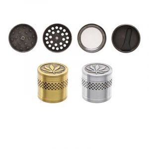 Atomic Metal Grinder 4 part 4cm Silver And Gold