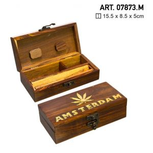 Box Medium Wooden Amsterdam 15cm x 8cm