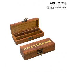 Box Small Wooden Amsterdam 15cm x 6cm