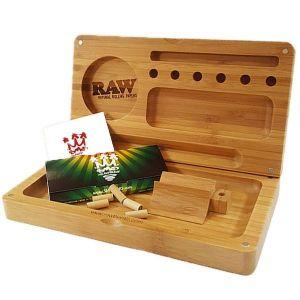 RAW Back Flip Bamboo Rolling Tray