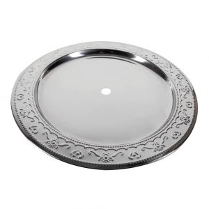 Amy Deluxe Πιάτο Silver Engraved 30 cm
