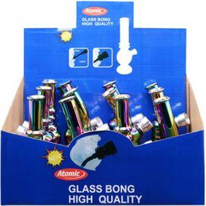 Atomic Bong Glass 13cm Rainbow