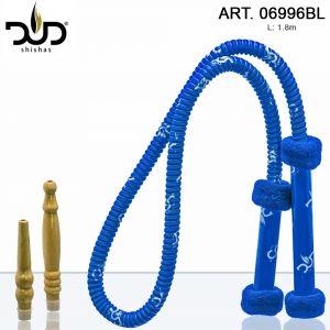 DUD Shisha Hose Long Grip Blue L:1,8m