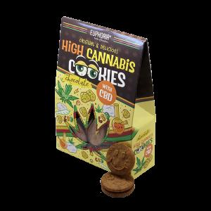 Euphoria High Cannabis Cookies Chocolate (Σακουλάκι 100 gr)