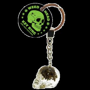 Euphoria Weed Head Key Ring With Cannabis