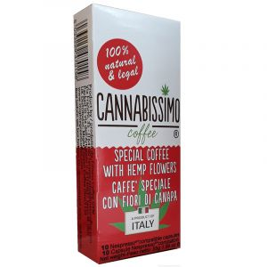 Cannabissimo Coffee With Hemp Flower Capsule in Box 10 for Nespresso Machines