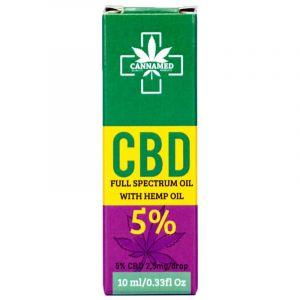Cannamed CBD Oil Drop Full Spectrum White Hemp 10ml 5%