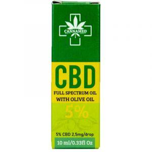 Cannamed CBD Oil Drop Full Spectrum White Olive 10ml 5%