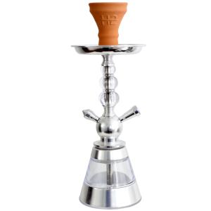 Ναργιλές/Shisha Dum H2-Celeste - Silver 40 cm