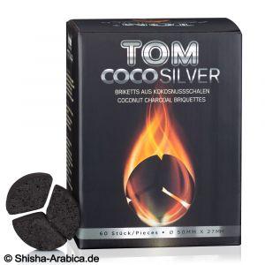 Κάρβουνα Ναργιλέ Tom Cococha 1kg (60 τμχ) - SILVER