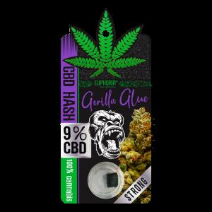 Euphoria CBD Hash 9% Gorilla Glue 1 gr (Εκχύλισμα - Jelly - Wax)